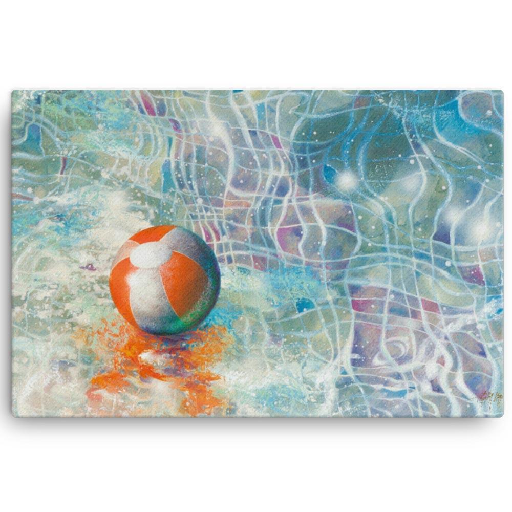 Reproducción de arte en lienzo 91x61 cm - Reflejos - técnica mixta - Surrealismo -pintado por Fernando Pagador