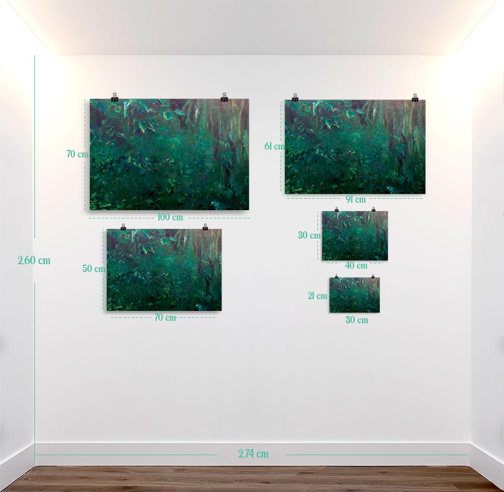 Reproducción de arte en lámina - medidas - Clorofila Derecha - Técnica Mixta - Paisaje - Naturalismo -pintado por Fernando Pagador