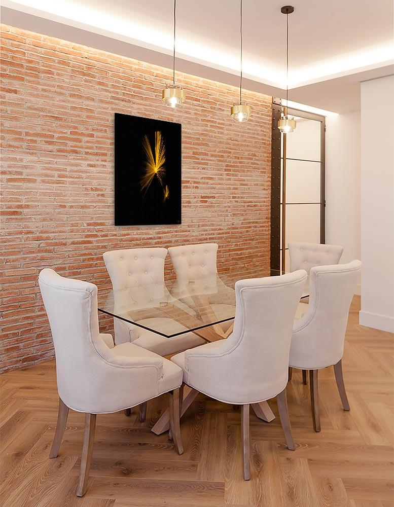Reproducción de arte en lienzo - Comedor con pared de ladrillo - Mariposas - Diseño Digital - Abstracto - Fotografía y Pintura -pintado por Fuli