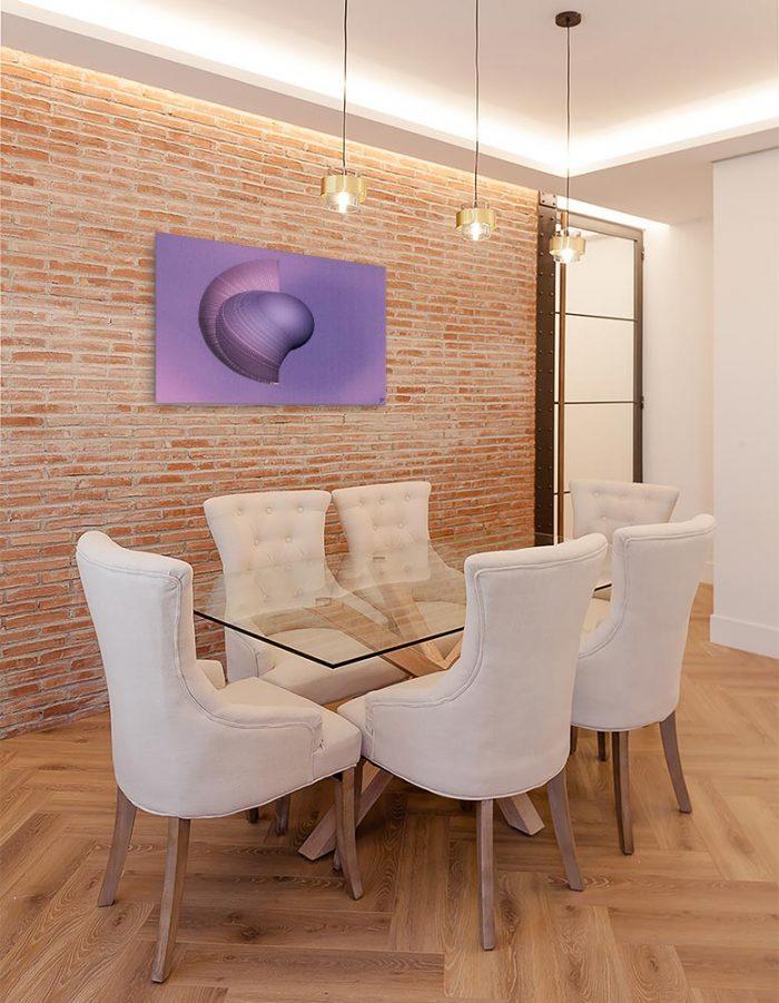 Reproducción de arte en lienzo - comedor con pared de ladrillo - Guerrero Argarico - Diseño Digital - Abstracto - Fotografía y Pintura -pintado por Fuli