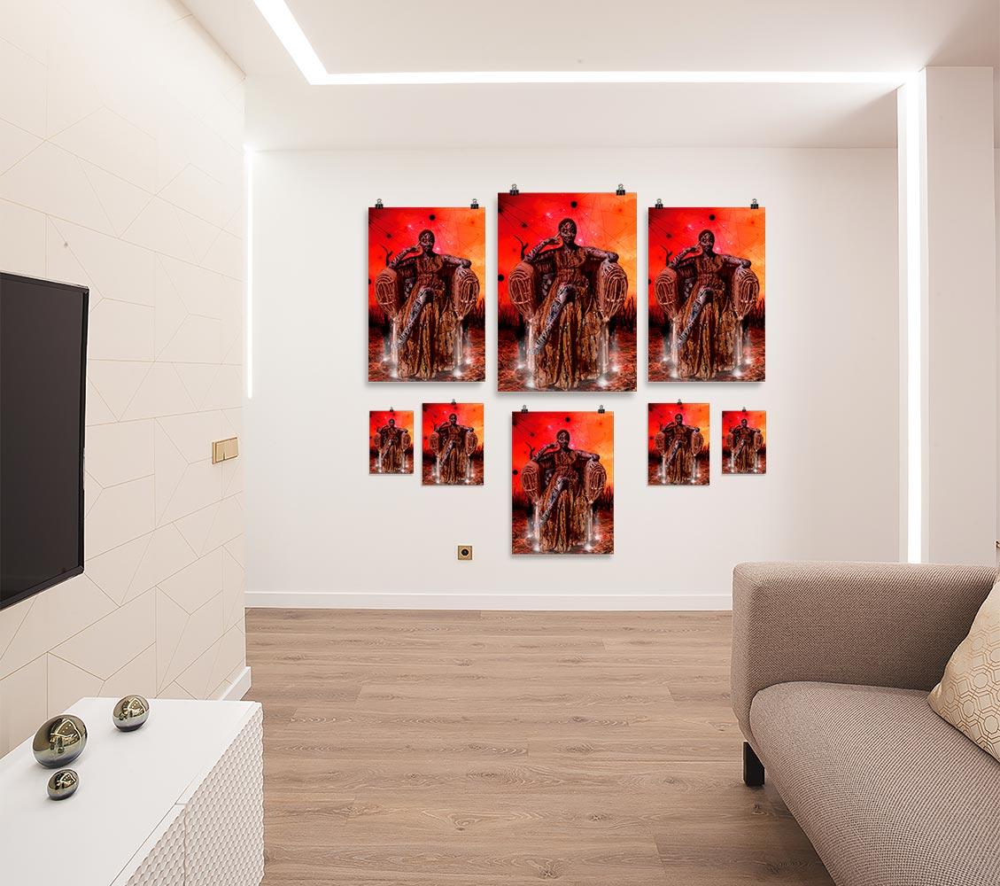 Reproducción de arte en lámina - salón - Desconexión - Diseño Digital - Ilustración - Fotografía y Pintura -pintado por WachiMakeArt