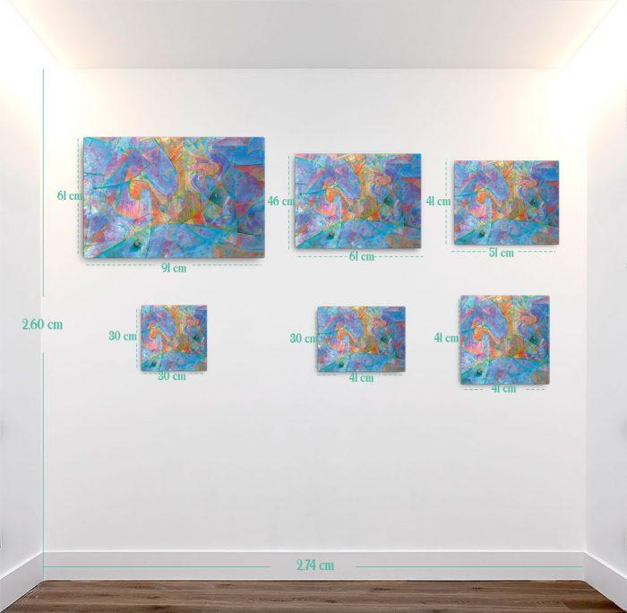 Reproducción de arte en lienzo- medidas - Espacio de Comunicación - Encáustico - Geometria y Abstracción - Matérica -pintado por Fernando Pagador