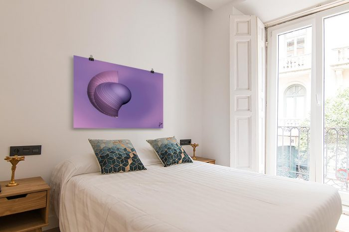 Reproducción de arte en lámina - dormitorio con balcón - Guerrero Argarico - Diseño Digital - Abstracto - Fotografía y Pintura -pintado por Fuli