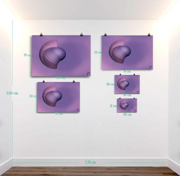 Reproducción de arte en lámina - medidas - Guerrero Argarico - Diseño Digital - Abstracto - Fotografía y Pintura -pintado por Fuli