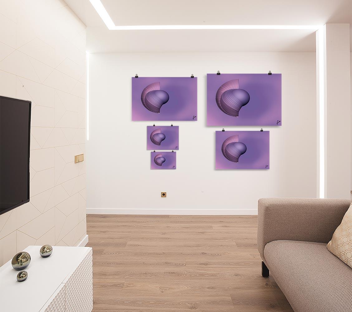Reproducción de arte en lámina - salón - Guerrero Argarico - Diseño Digital - Abstracto - Fotografía y Pintura -pintado por Fuli