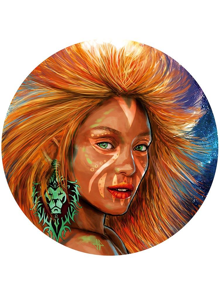 Reproducción de arte - imagen destacada - El Poder de Leo - Diseño Digital - Zodiaco - Ilustración -pintado por Adrian Pagador