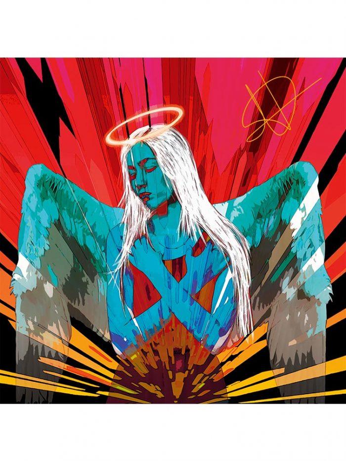 Reproducción de arte - imagen destacada - Angel Awakening - Diseño Digital - Ilustración - Fotografía y Pintura -pintado por WachiMakeArt