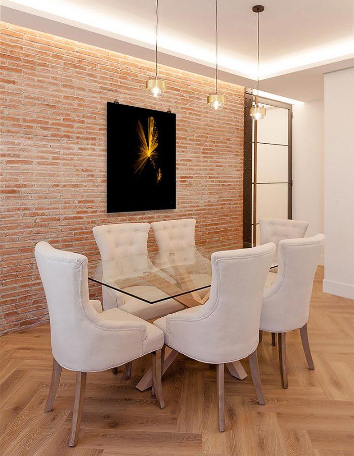 Reproducción de arte en lámina - comedor con pared de ladrillo - Mariposas - Diseño Digital - Abstracto - Fotografía y Pintura -pintado por Fuli