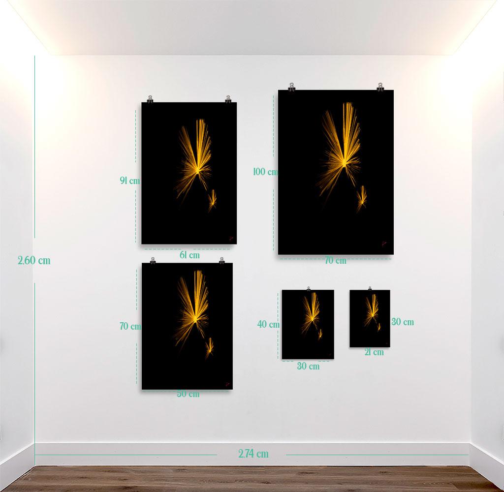 Reproducción de arte en lámina - medidas - Mariposas - Diseño Digital - Abstracto - Fotografía y Pintura -pintado por Fuli