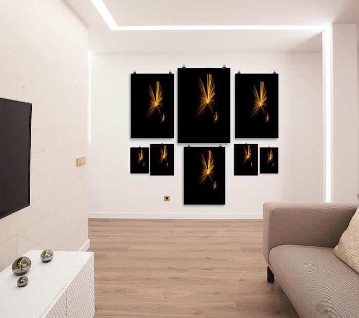 Reproducción de arte en lámina - salón - Mriposas - Diseño Digital - Abstracto - Fotografía y Pintura -pintado por Fuli