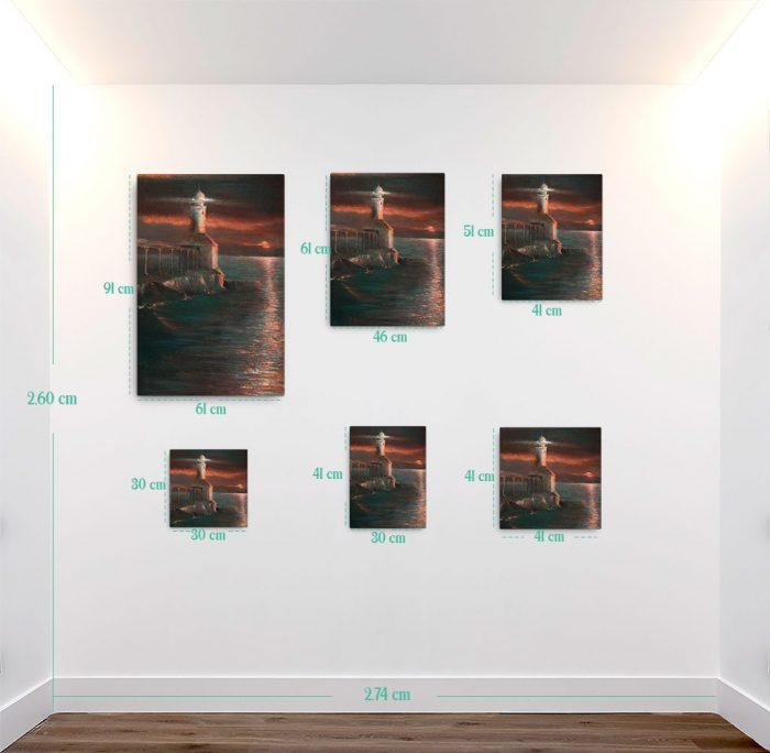 Reproducción de arte en lienzo - medidas - Matutino - Óleo - Paisaje costero - Impresionismo -pintado por Fernando Pagador