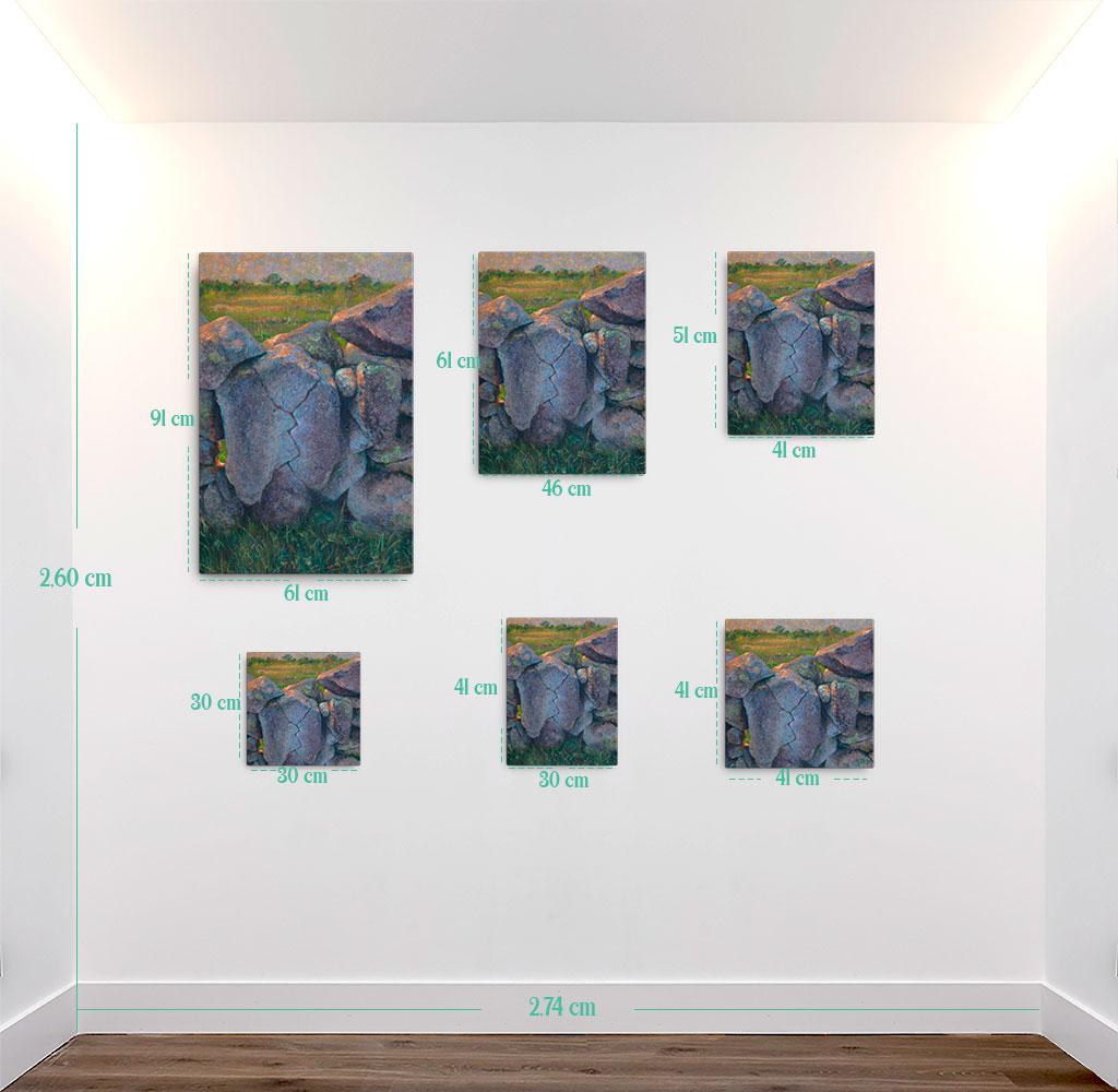 Reproducción de arte en lienzo - medidas - Ancestros - Óleo - Paisaje - Naturalismo -pintado por Fernando Pagador