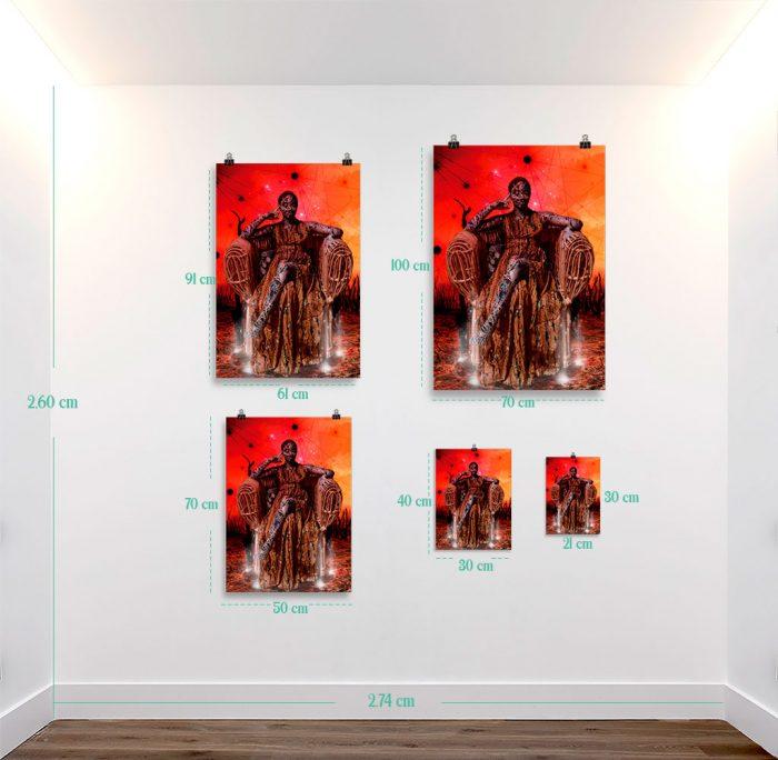 Reproducción de arte en lámina - medidas - Desconexión - Diseño Digital - Ilustración - Fotografía y Pintura -pintado por WachiMakeArt