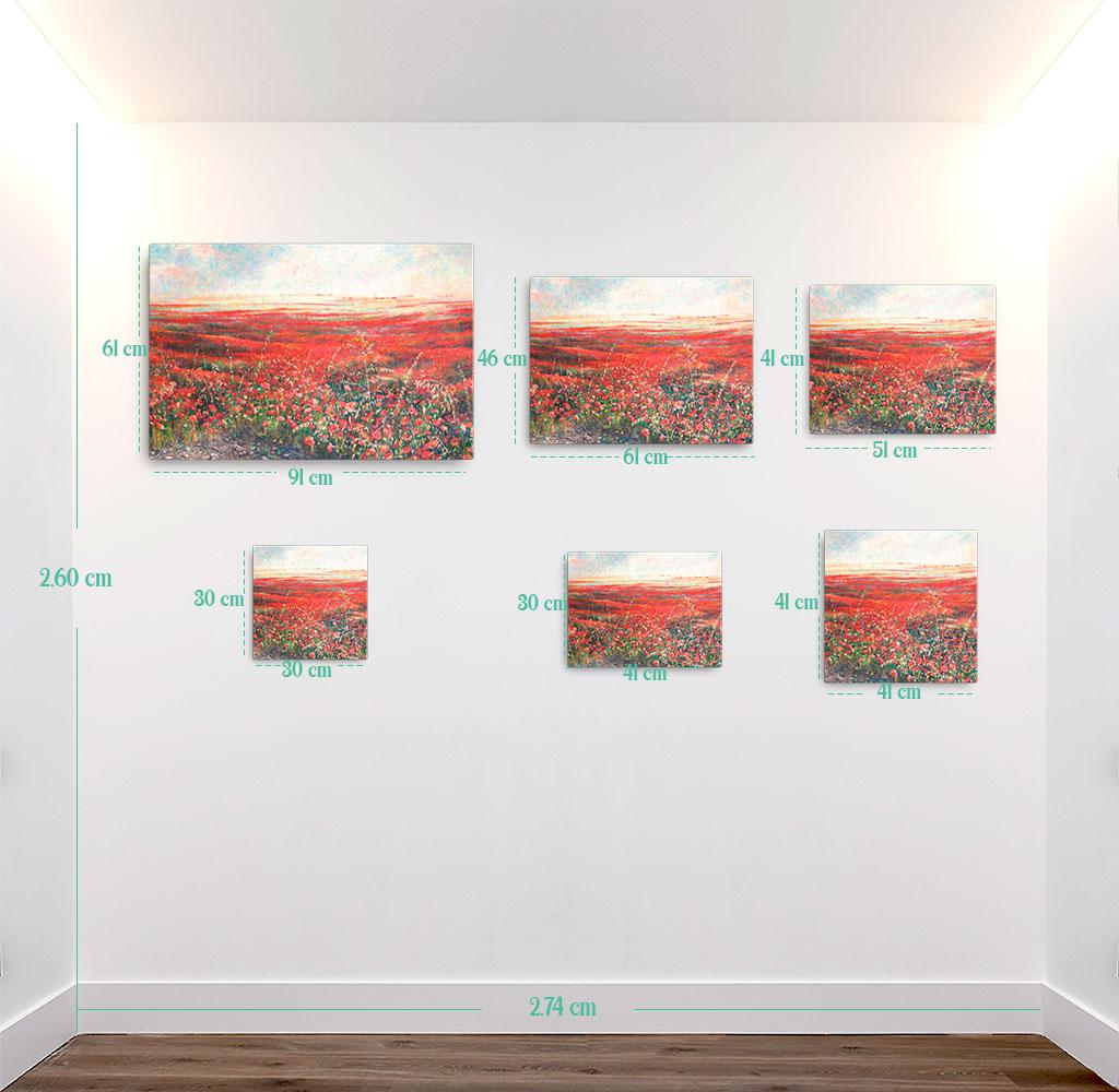 Reproducción de arte en lienzo - medidas - Termino de Valverde 2 - Óleo - Paisaje - Naturalismo -pintado por Fernando Pagador