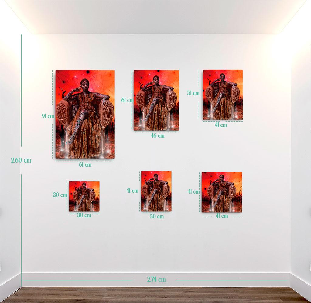 Reproducción de arte en lienzo - medidas - Desconexión - Diseño Digital - Ilustración - Fotografía y Pintura -pintado por WachiMakeArt