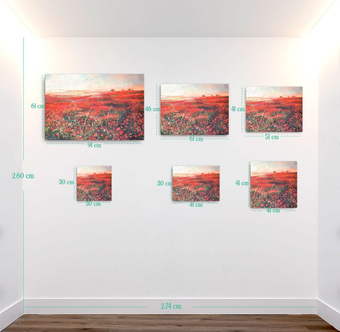 Reproducción de arte en lienzo - medidas - Termino de Valverde 3 - Óleo - Paisaje - Naturalismo -pintado por Fernando Pagador