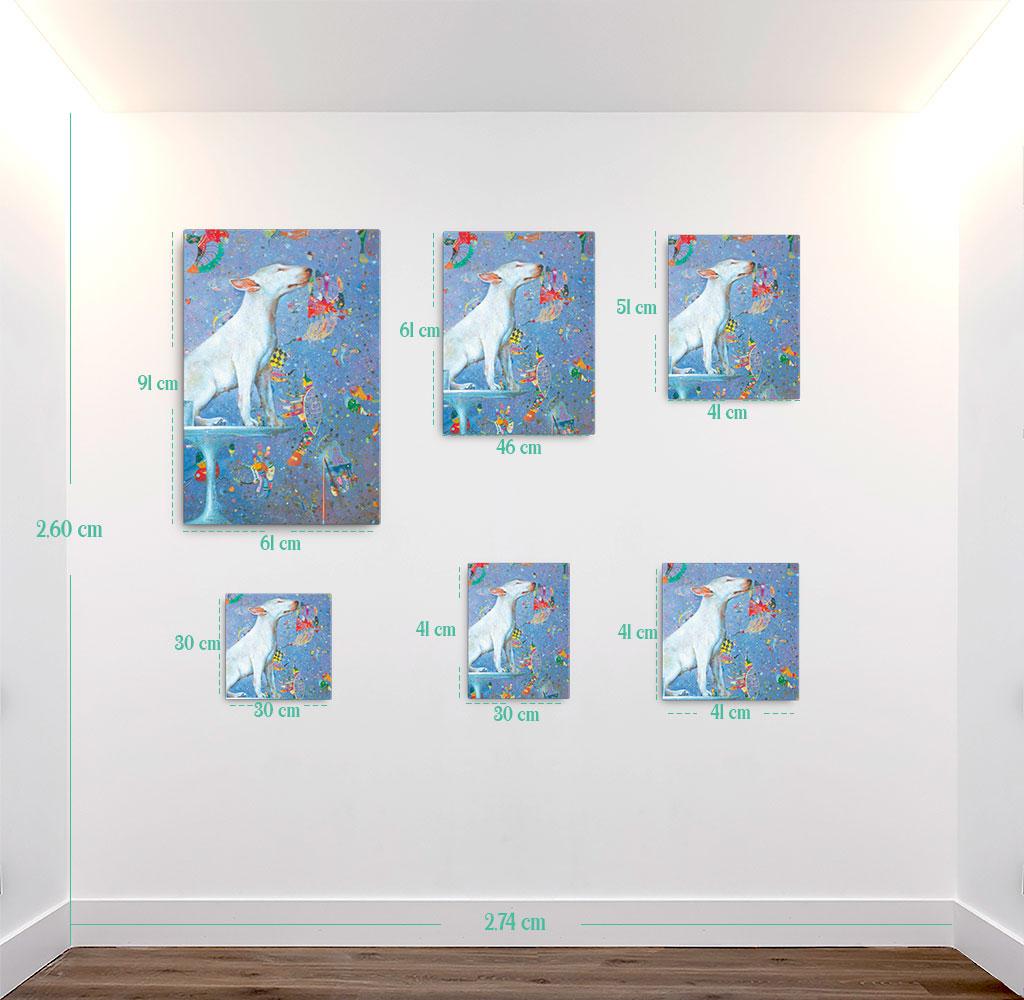 Reproducción de arte en lienzo - medidas - El Perro de Kandinsky - Óleo - Realismo Cósmico-pintado por Fernando Pagador