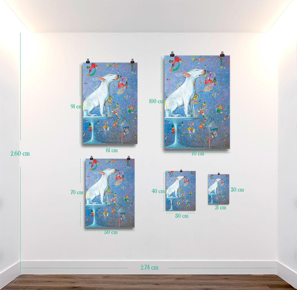 Reproducción de arte en lámina - medidas - El Perro de Kandinsky - Óleo - Realismo Cósmico-pintado por Fernando Pagador