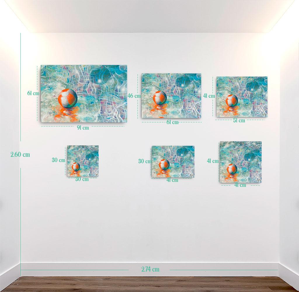 Reproducción de arte en lienzo - medidas - Reflejos - técnica mixta - Surrealismo -pintado por Fernando Pagador