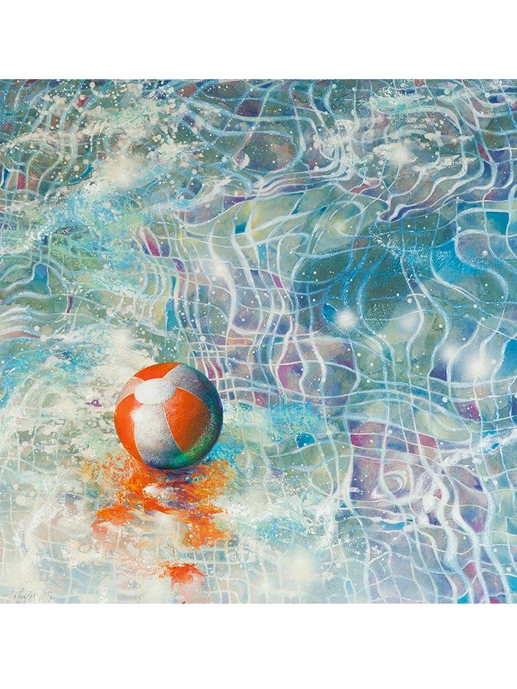 Reproducción de arte - imagen destacada - Reflejos - técnica mixta - Surrealismo -pintado por Fernando Pagador