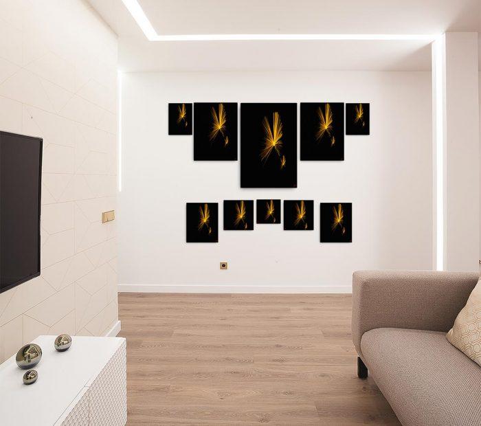 Reproducción de arte en lienzo - salón - Esfinge - Diseño Digital - Abstracto - Fotografía y Pintura -pintado por Fuli