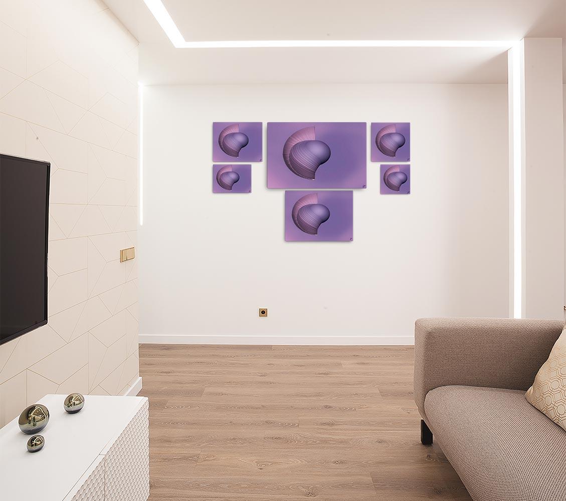 Reproducción de arte en lienzo - salón - Guerrero Argarico - Diseño Digital - Abstracto - Fotografía y Pintura -pintado por Fuli