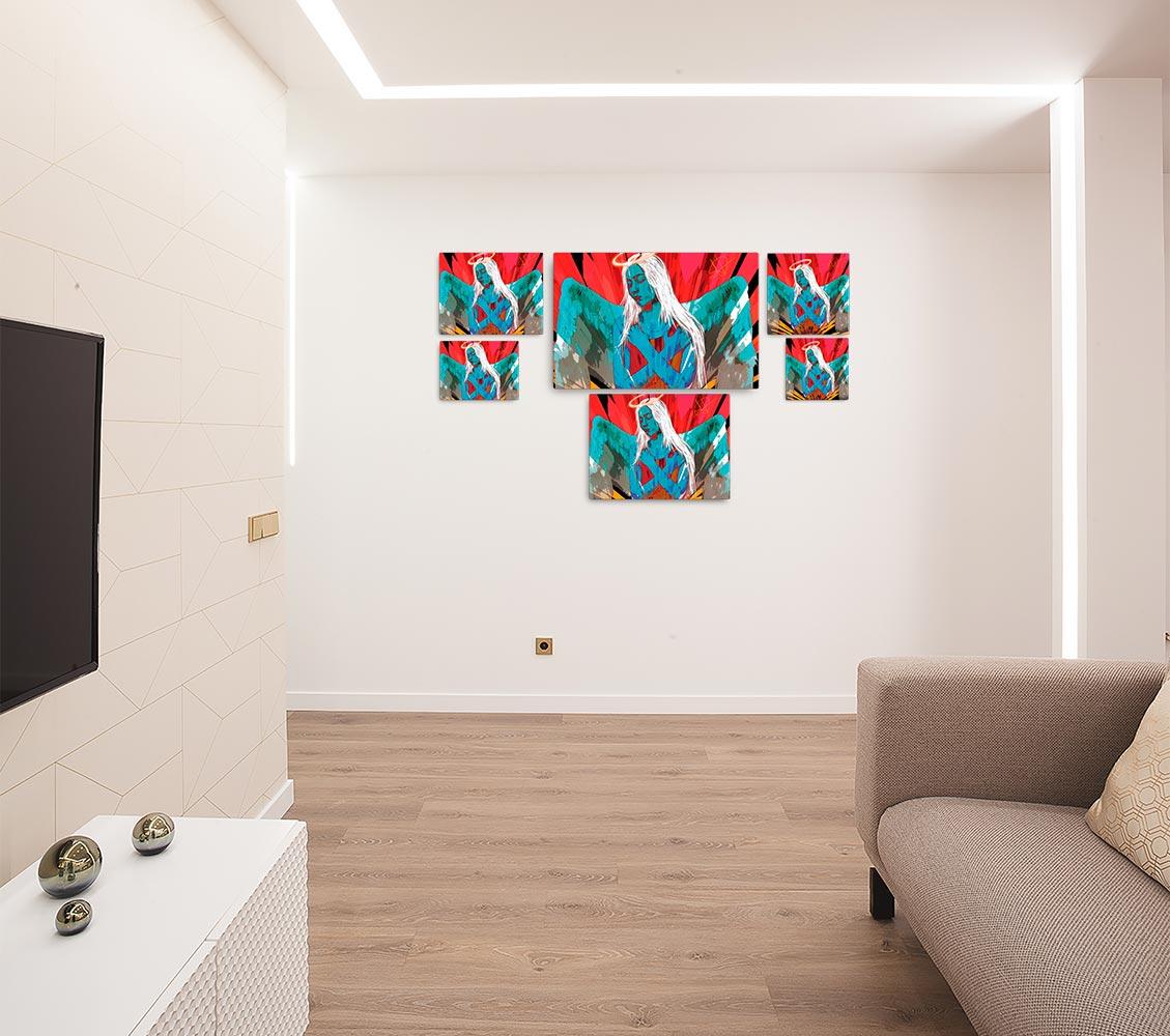 Reproducción de arte en lienzo - salón - Angel Awakening - Diseño Digital - Ilustración - Fotografía y Pintura -pintado por WachiMakeArt