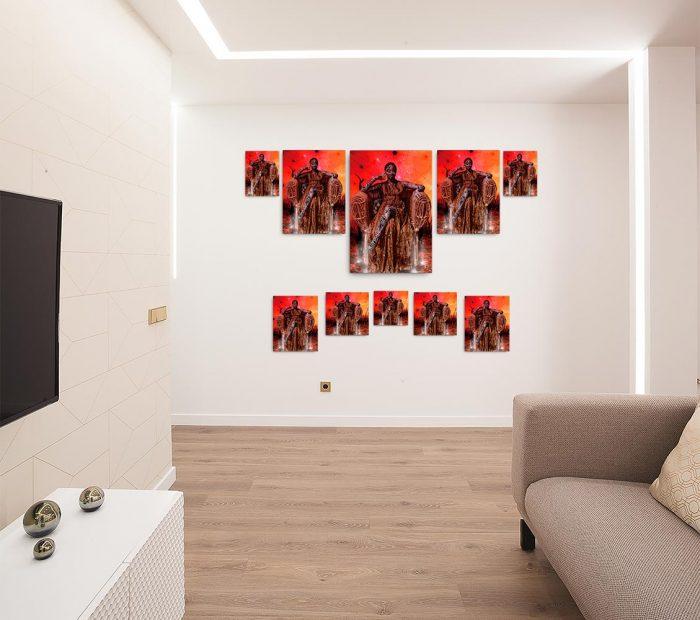 Reproducción de arte en lienzo - salón - Desconexión - Diseño Digital - Ilustración - Fotografía y Pintura -pintado por WachiMakeArt