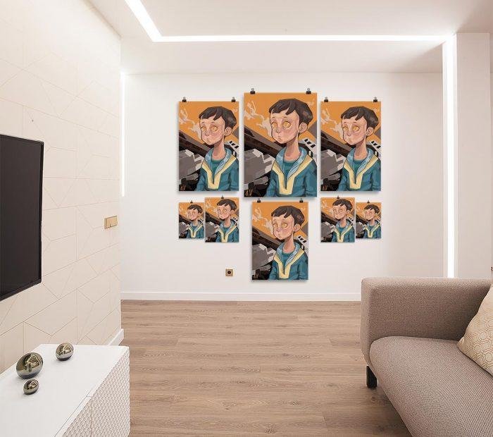 Reproducción de arte en lámina - salón - Siria - Diseño Digital - Protesta - Ilustración -pintado por Aida Valdayo