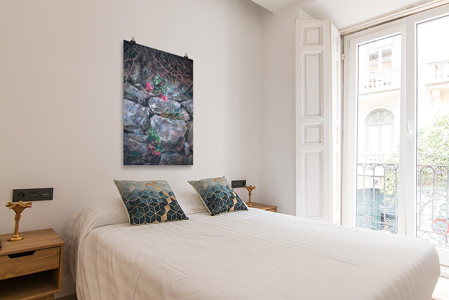 Reproducción de arte en lámina - dormitorio con balcón - Supervivientes - Óleo - Naturalismo-pintado por Fernando Pagador