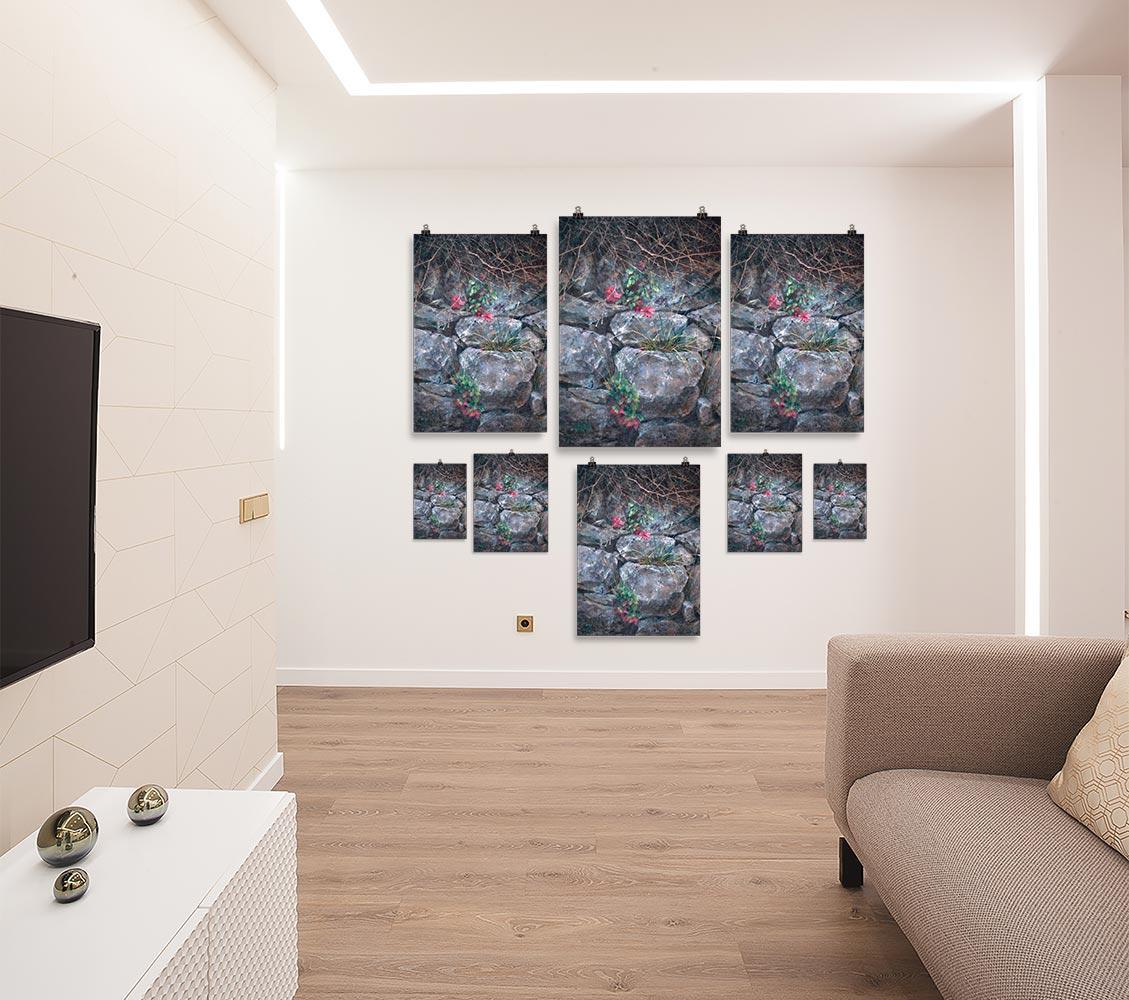 Reproducción de arte en lámina - salón - Supervivientes - Óleo - Naturalismo-pintado por Fernando Pagador