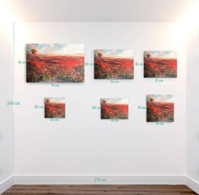 Reproducción de arte en lienzo - medidas - Termino de Valverde 1 - Óleo - Paisaje - Naturalismo -pintado por Fernando Pagador