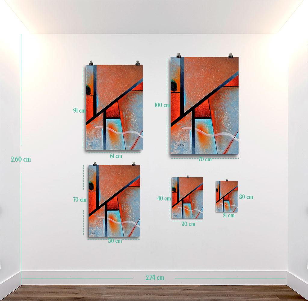 Reproducción de arte en lámina - medidas - Tribal I - Óleo - Geometrías-pintado por Fernando Pagador