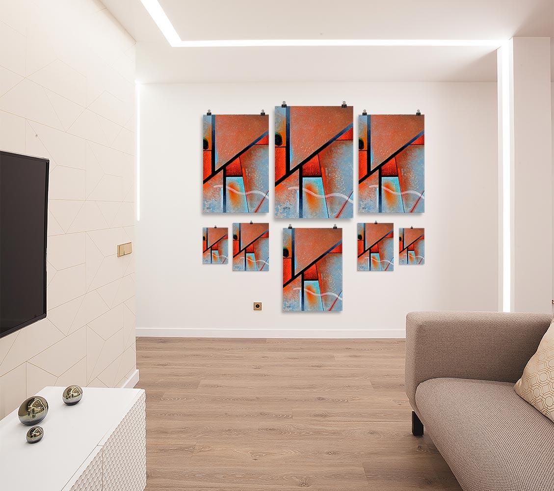 Reproducción de arte en lámina - salón - Tribal I - Óleo - Geometrías-pintado por Fernando Pagador