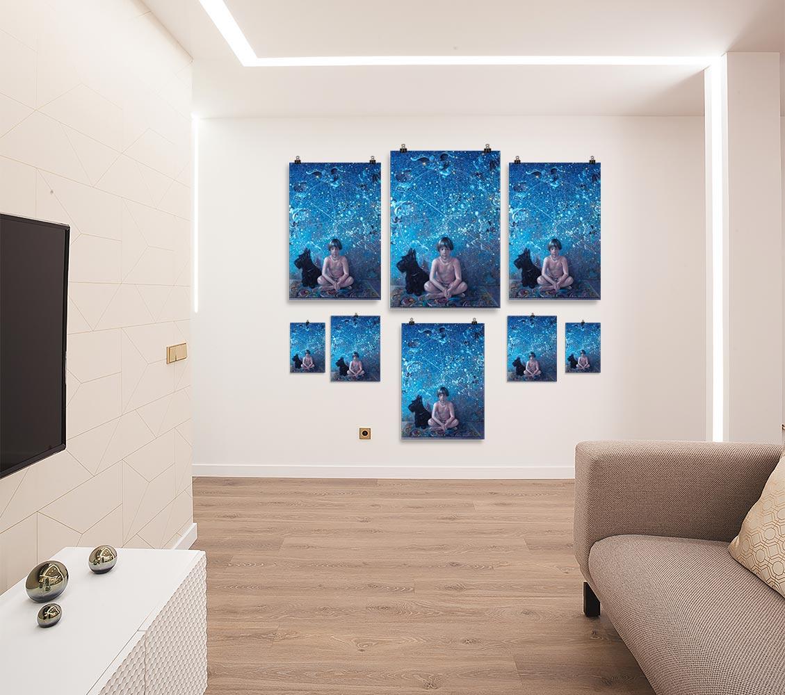Reproducción de arte en lámina - salón - UNIVERSO INFANTIL - Óleo - Realismo -pintado por Fernando Pagador