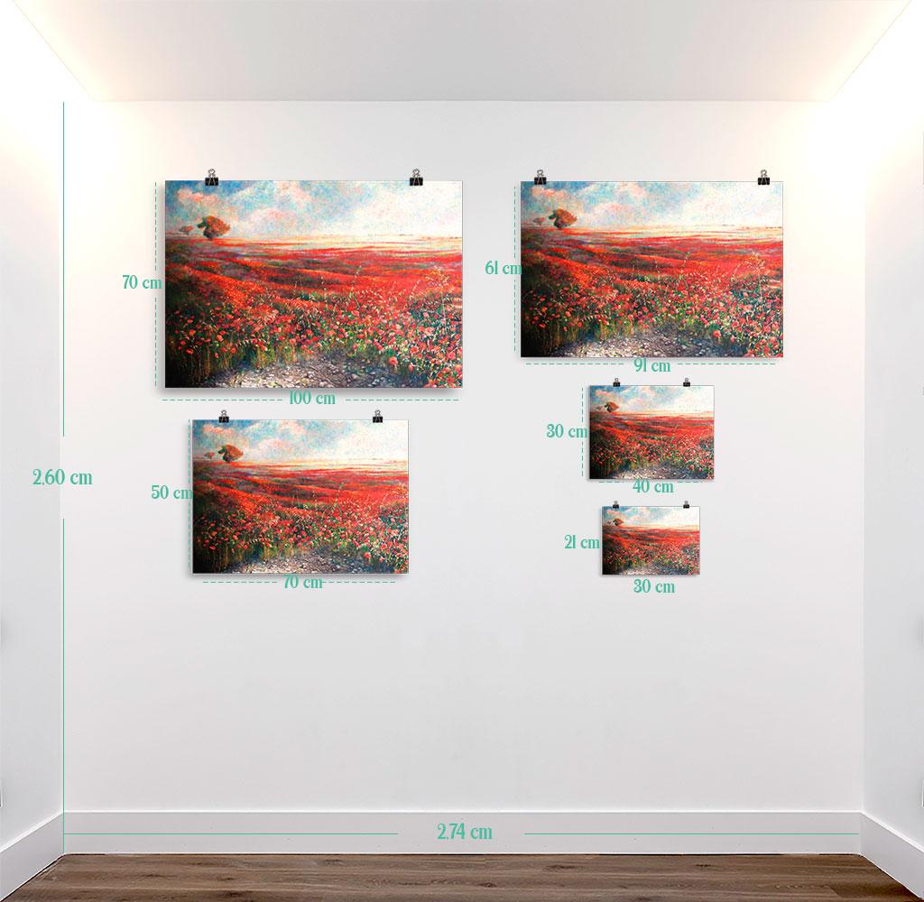 Reproducción de arte en lámina - medidas - Termino de Valverde 1 - Óleo - Paisaje - Naturalismo -pintado por Fernando Pagador
