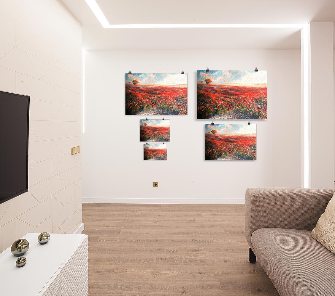 Reproducción de arte en lámina - salón - Termino de Valverde 1 - Óleo - Paisaje - Naturalismo -pintado por Fernando Pagador