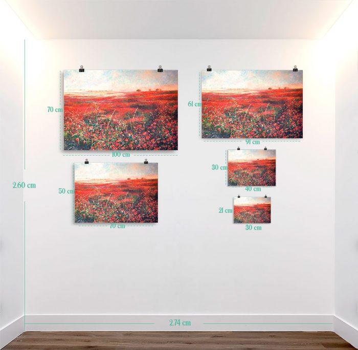 Reproducción de arte en lámina - medidas - Termino de Valverde 3 - Óleo - Paisaje - Naturalismo -pintado por Fernando Pagador