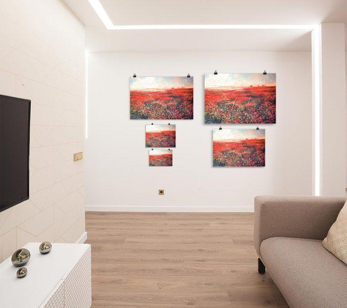 Reproducción de arte en lámina - salón - Termino de Valverde 3 - Óleo - Paisaje - Naturalismo -pintado por Fernando Pagador
