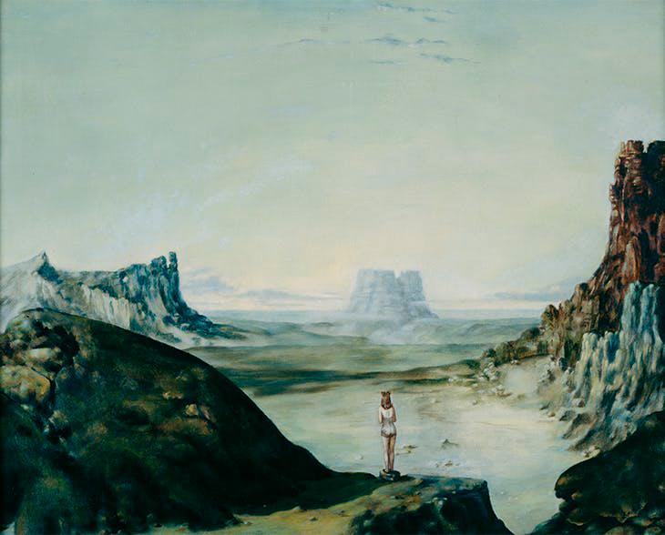 Selfportrait - Autorretrato - Cuadro Surrealista pintado por Dorothea Tanning en 1944 - Óleo sobre Lienzo 61 x 76 cm