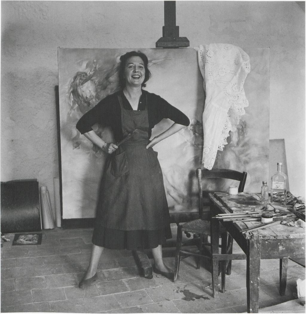 Dorothea Tanning en su estudio en 1955 - fotografía