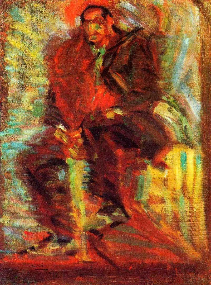 El Agricultor o el Granjero - Cuadro Fauvista pintado por Joan Miró en 1914 - Óleo sobre Lienzo 65 x 50 cm