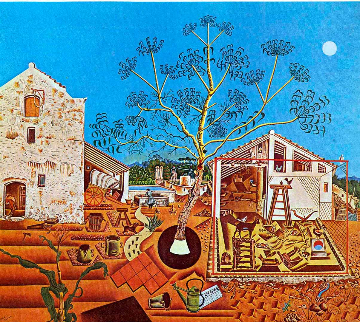 La Masía - Cuadro Cubista pintado por Joan Miró en 1920 - Óleo sobre Lienzo 123 x 141 cm