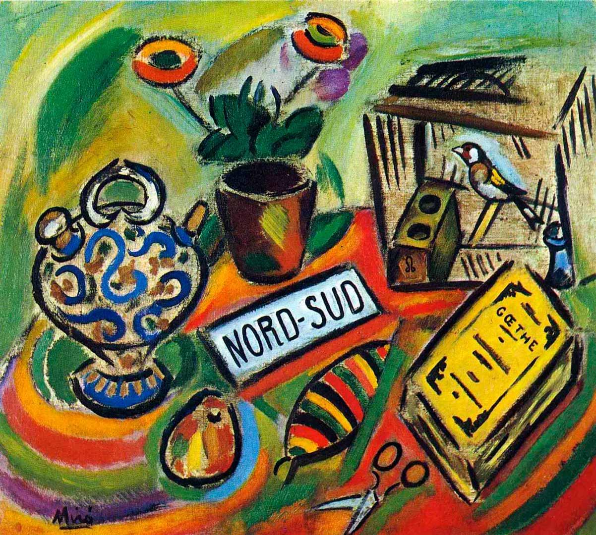 Nord-Sud - Cuadro Fauvista pintado por Joan Miró en 1917 - Óleo sobre Lienzo 62 x 70 cm